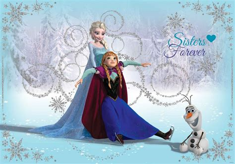 wallpaper frozen uk wallpaper for girl s bedroom elsa anna disney frozen