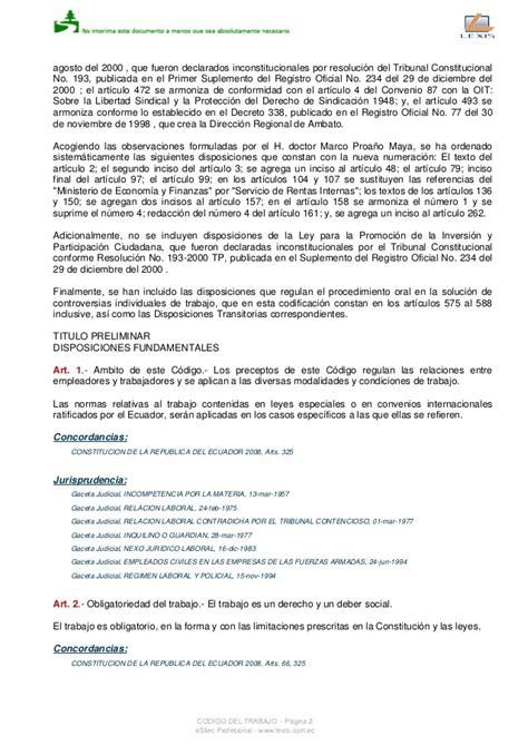 codigo de trabajo reformado 2016 download pdf codigo laboral vigente ecuador 2016 c 243 digo de trabajo