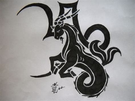 capricorn tribal tattoo tribal and capricorn design