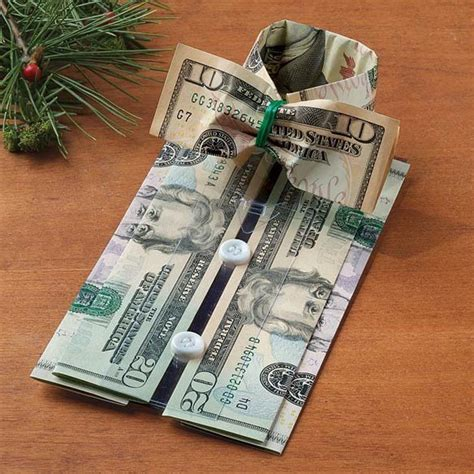 Dollar Bill Origami Bow - tree ornaments made w real money origami unique