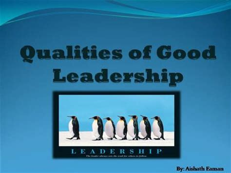 powerpoint templates for leadership qualities qualities of good leadership authorstream