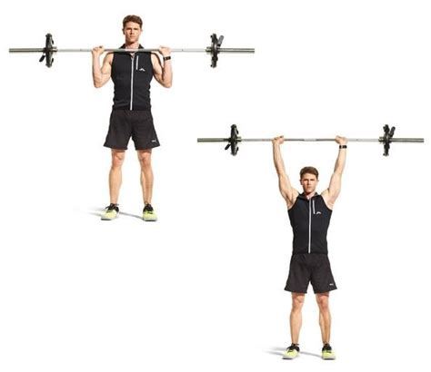 overhead bench press 1000 ideas about overhead press on pinterest exercise