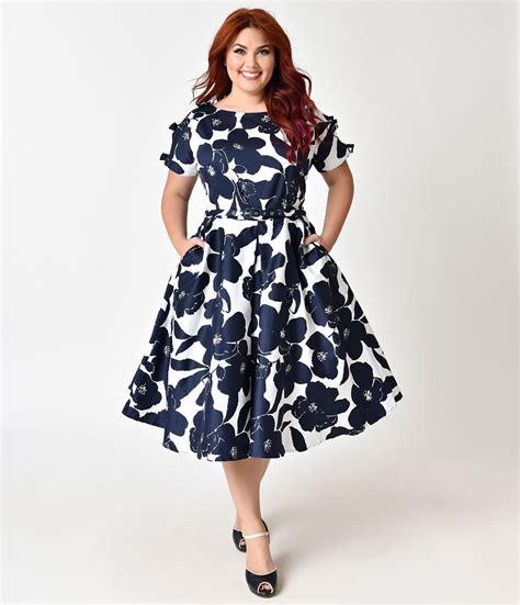 Blouse Brukat Sabrina Zigzag Flower Bunga 1950s plus size dresses clothing plus size swing dresses