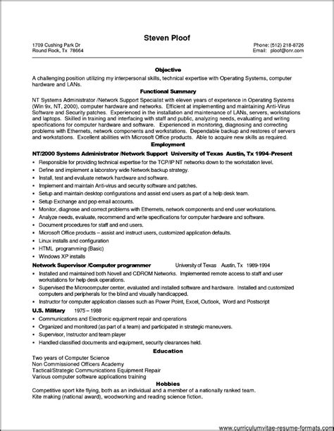 Sle Resume Format For It Professional by Sle Resume It Professional 28 Images Resume Templates It Professional Infectious Disease