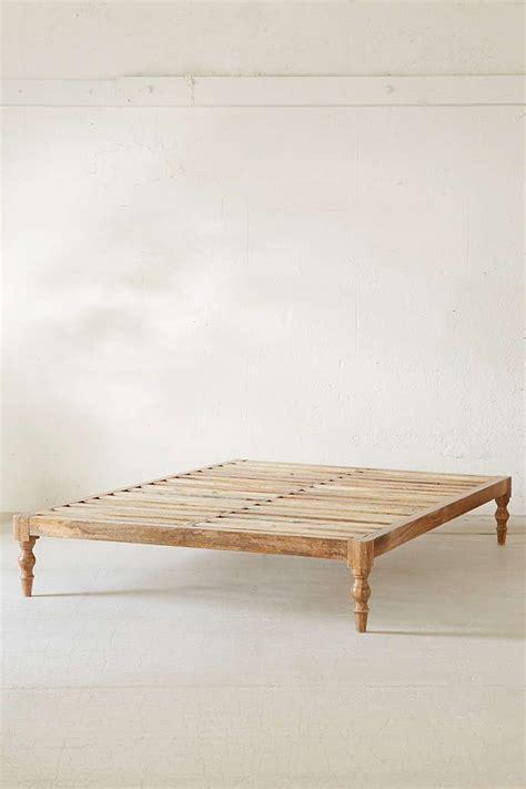 bohemian platform bed   bedroom wood platform