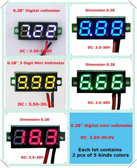 Pcb Mount Voltmeter 3 Digit 3 Wire 0 30v 0 36in 0 36 Blue digital panel meter wiring digital flowmeter elsavadorla