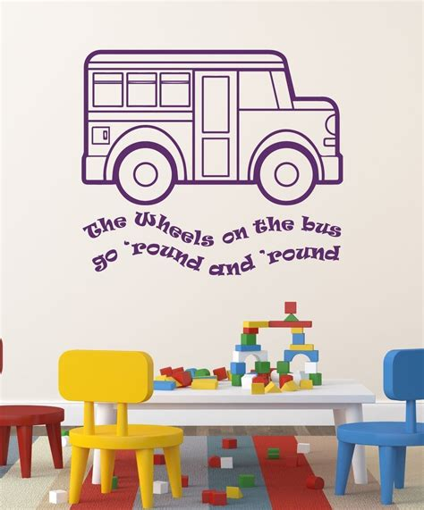 Nursery Rhyme Wall Decals Nursery Rhyme Wall Decals The Wheels On The Song Customvinyldecor