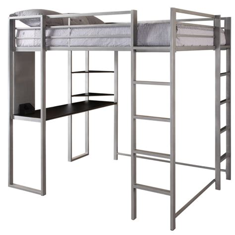 full size metal loft bed furniture full size corner loft bunk bed with desk and