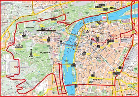 prague map maps update 21051488 prague tourist map prague
