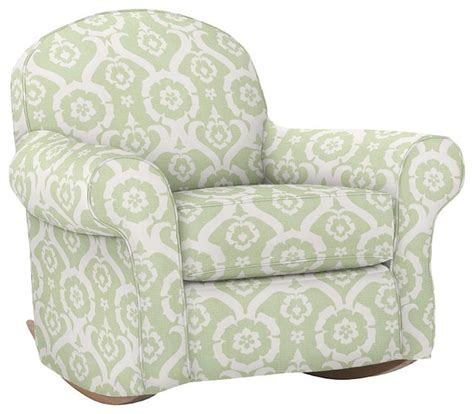 pottery barn dream rocker slipcover dream rocker ottoman traditional rocking chairs by