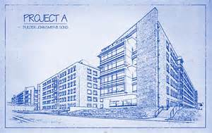 architect s blueprint drawing effect in photoshop