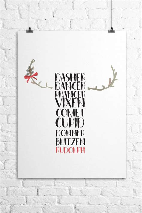 create your own printable wall art free printable reindeer wall art frame upcycle a few