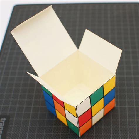 printable paper rubik s cube rubik s cube printable diy gift box favor box cupcake