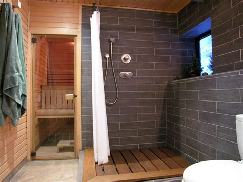Contemporary Bathroom With Shower And Sauna Hgtv Bathroom Sauna Showers