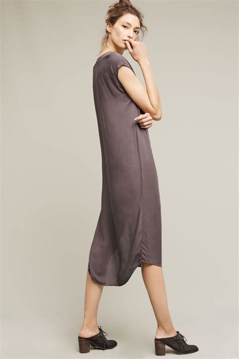 Dress Tille lyst cloth t shirt tunic dress in gray