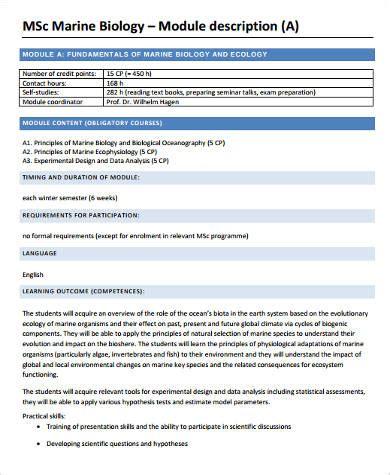 marine biologist description research marine biologist description 22 cover letter