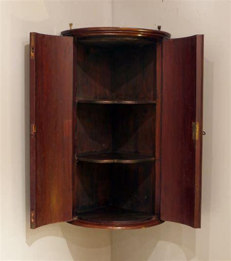 small antique corner cupboard bow front corner cupboard