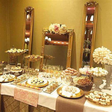 decorar mesa de boda c 243 mo decorar la mesa de postres en tu boda de oro
