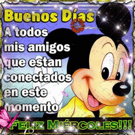 imagenes de buenos dias mickey mouse feliz mi 233 rcoles de parte de mickey mouse 751 im 225 genes