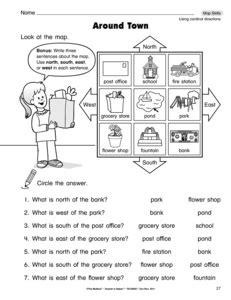 printable cardinal directions cardinal direction worksheet new calendar template site