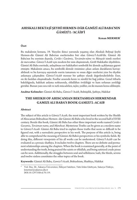 the spiritual meaning of ali baba and the 40 thieves and the sheikh of ahiscanian bektashian hirmendar gamizi ali