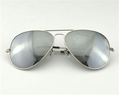 Rb Chris Mirror Silver ban rb3026 aviator large metal w3277 silver mirror