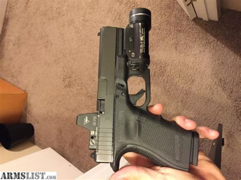 glock 19 iwb holster with light armslist for sale glock 19 mos trijicon rmr 02 and