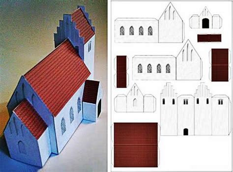 paper church template 17 best images about 3d papercrafts houses buildings and