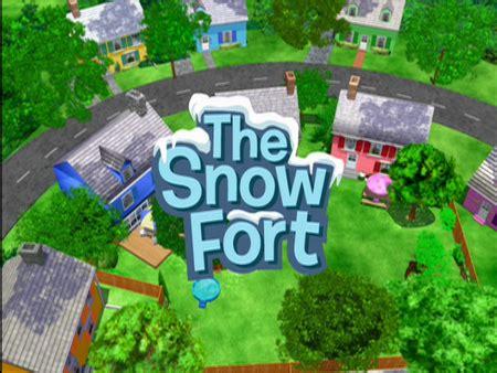 snow fort  backyardigans wiki