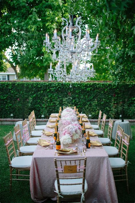 glamorous backyard bridal shower it weddings