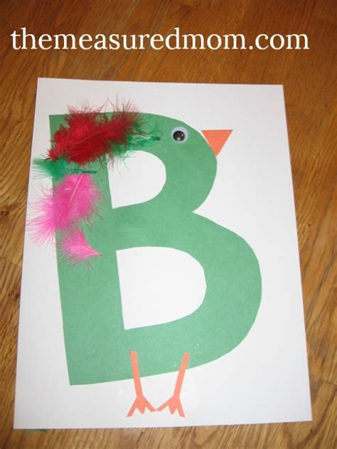 arts and crafts for preschoolers letter b projects for preschoolers the measured