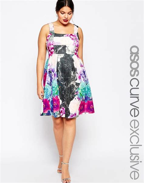 debutante dresses shopping image 1 of asos curve debutante dress in mixed floral