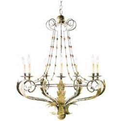 ethan allen lighting fixtures ethan allen seven light acanthus chandelier polyvore