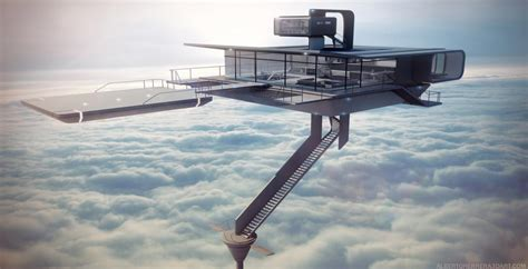 oblivion houses oblivion sky tower 3d render day by alberto herrera 3d art tito 3d artist