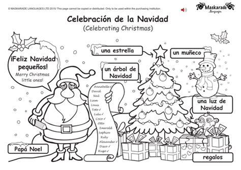 printable christmas games in spanish ks1 spanish level 1 christmas easter by