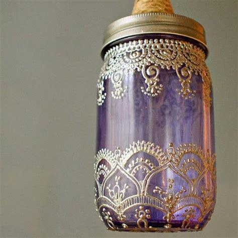 latest themes jar mason jar lantern pendant light lavender glass with