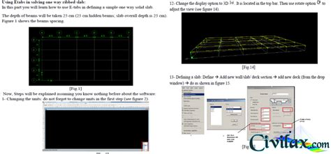 autocad tutorial handouts etabs handouts civil engineering downloads