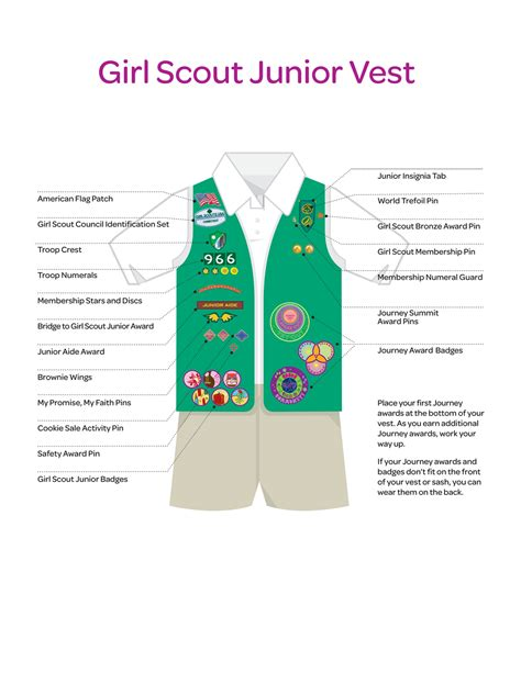 scout junior sash diagram scouts of the usa 2014 pins badge placement
