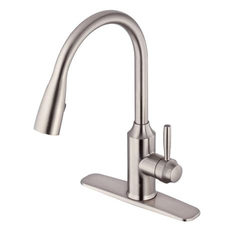 glacier bay pull kitchen faucet glacier bay invee pull sprayer kitchen faucet in stainless steel fp4a4080ss ebay