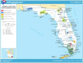 map of florida map federal lands and indian reservations