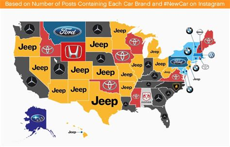 most popular car brand by state map vehicle depreciation rate why you lose money autoevolution