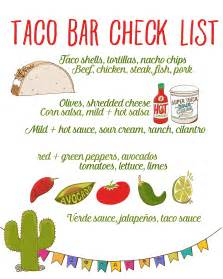 taco bar recipe free taco bar checklist