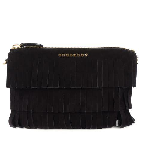 burberry suede fringe peyton crossbody bag black 116396