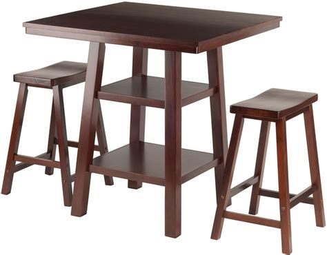 5 Counter Height Dining Set With Stools by Orlando 3 Walnut Counter Height Dining Set With