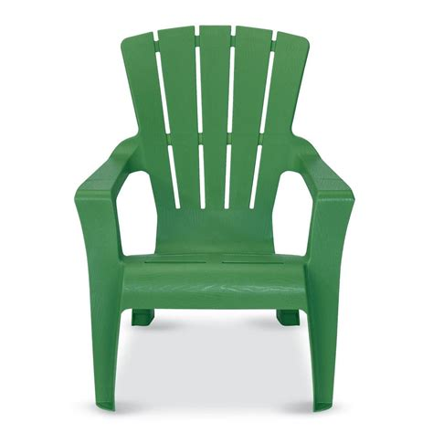 plastic colored adirondack chairs home depot us leisure fern plastic adirondack chair 153853 the home