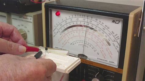 how to test resistor using analog tester transistor testing the basics