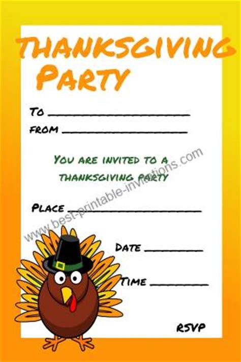 thanksgiving invitation card template thanksgiving invitations free printable invites