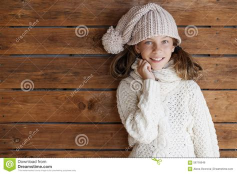 in knitted garments child posing in knitted clothing stock photo image 58716649