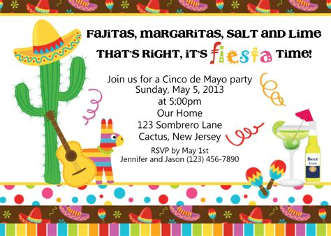 Mexican Party Invitations Theruntime Com Mexican Invitation Template