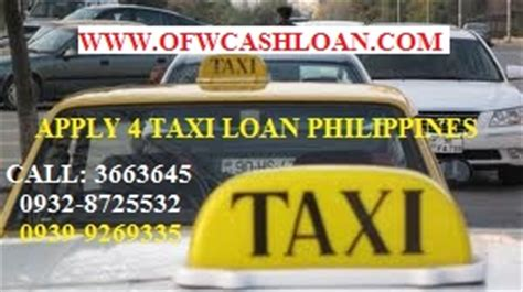 housing loan without collateral philippines taxi loan philippines or cr collateral financing or buy unit